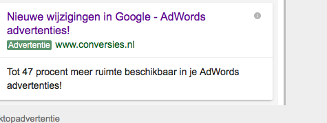 AdWords update – Advertentieteksten, Expanded text Ads