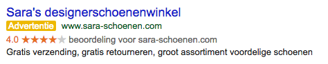 Google past regels gele sterren in AdWords aan