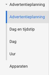 Advertentieplanning