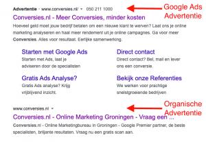 Google Ads advertentie