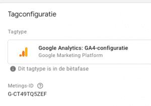 Tag Manager GA4 configuratie
