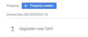 Upgrade naar GA4